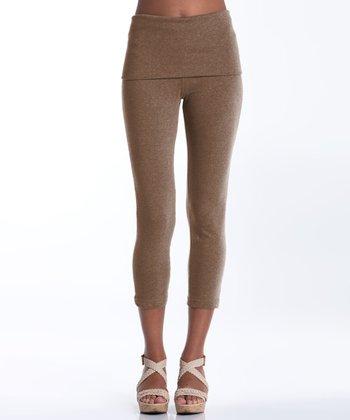 lur® Camel Silverball Cropped Leggings - Women