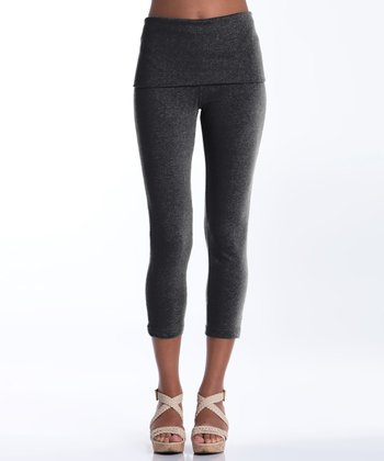 Charcoal Silverbell Capri Leggings