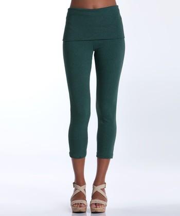 lur® Moss Silverbell Cropped Leggings - Women