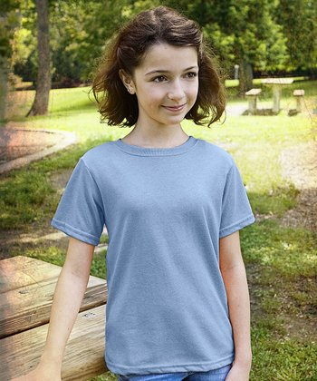 Chambray Blue Short-Sleeve Tee - Kids