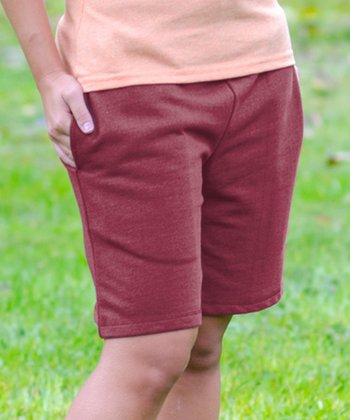 Pomegranate Bermuda Shorts