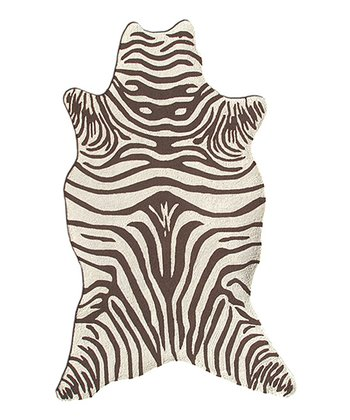 Brown Zebra Shape Rug