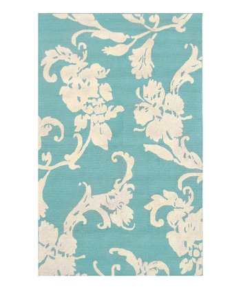 Blue & Ivory Toulouse Indoor/Outdoor Rug