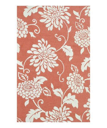 Orange & Ivory Mahalo Indoor/Outdoor Rug