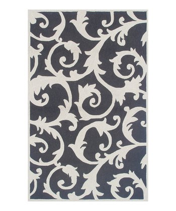 Black & Ivory Curacao Indoor/Outdoor Rug