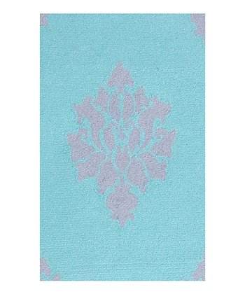 Blue & Lavender Aurora Indoor/Outdoor Rug