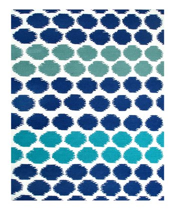 White & Blue Limbo Indoor/Outdoor Rug