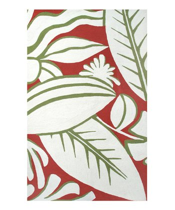 Red & Greed Tropicana Indoor/Outdoor Rug