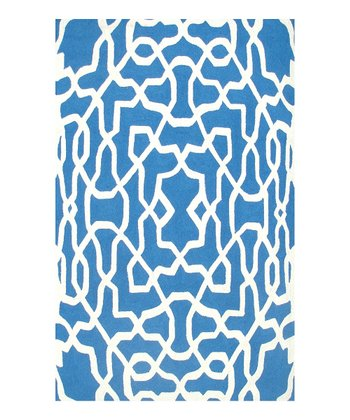 Blue & White Yang Indoor/Outdoor Rug