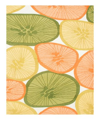 Yellow & Orange Citrus Indoor/Outdoor Rug