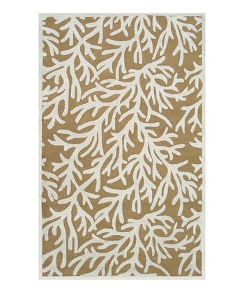 Yellow & Cream Reef Indoor/Outdoor Rug
