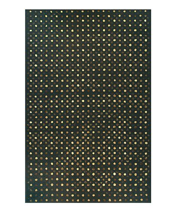 Black & Gold Soho Wool Rug