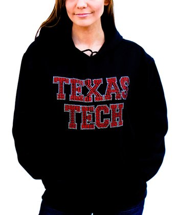 Black Texas Tech Hooded Sweatshirt