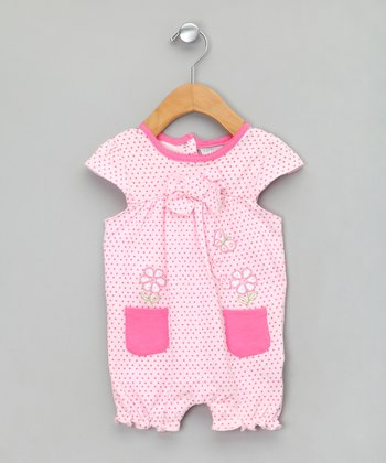 Light Pink Butterfly Pocket Romper