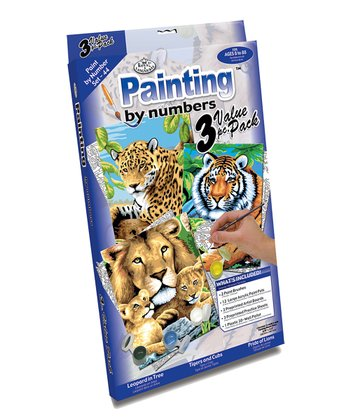 Jungle Cats Paint by Number Set