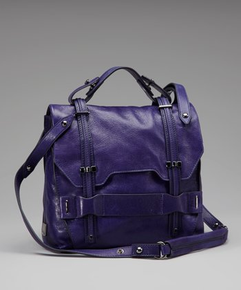 Royal Blue Jane Leather Crossbody Bag