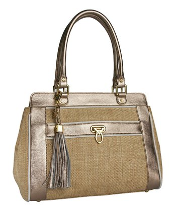 Natural Sophie Raffia Satchel