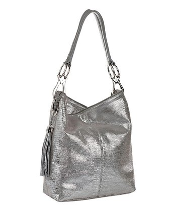 Silver Amsterdam Bucket Bag