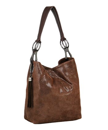 Dark Roast Mini Snake Bucket Bag