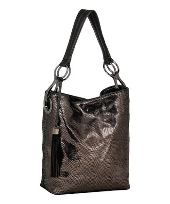 Gunmetal Mini Snake Bucket Bag