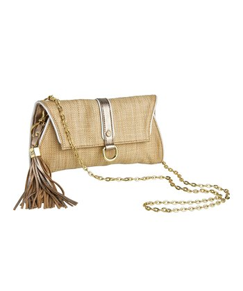 Natural Dany Raffia Crossbody Bag