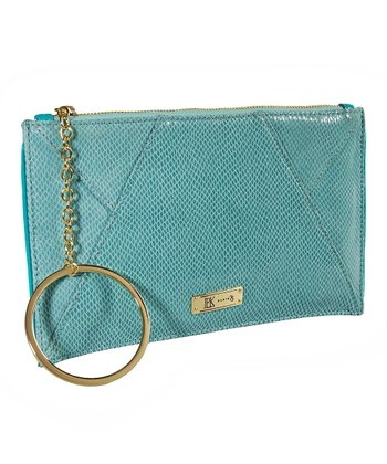 Aqua Adele Mini Snake Clutch