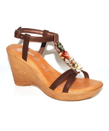 Chocolate Blossom Wedge Sandal