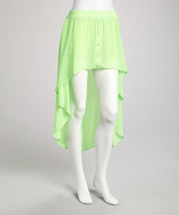 Neon Lime Hi-Low Skirt