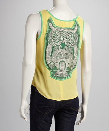 Yellow & Green Owl Tank