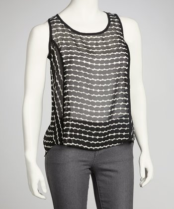 Black Stripe Sheer Tank