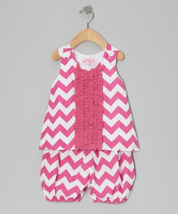Pink Zigzag Tank & Bloomers - Infant