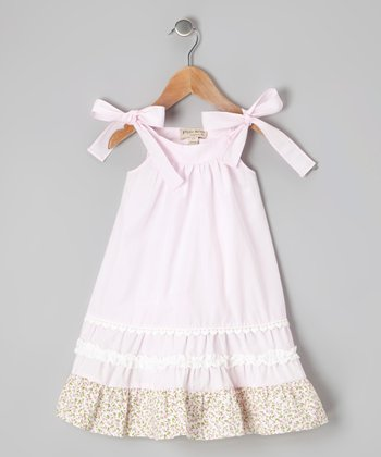 Pink Floral Lace Dress - Infant & Toddler