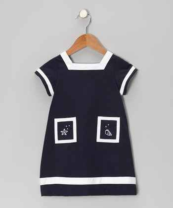 Navy Blue Seaside Dress - Infant & Toddler