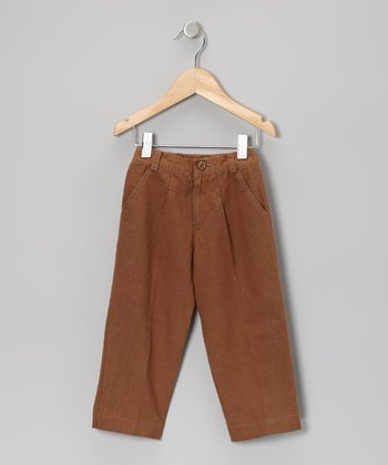 Dark Brown Slacks - Infant, Toddler & Boys