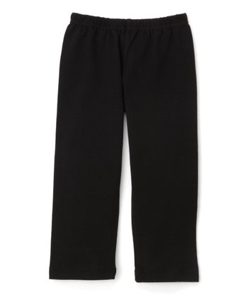 Black Baby Rib Pants - Infant & Toddler