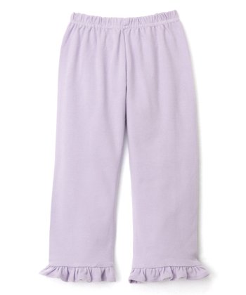 Lavender Baby Rib Ruffle Pants - Infant & Toddler