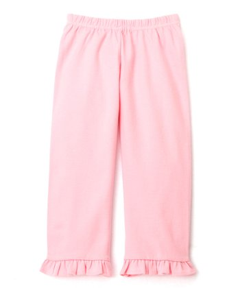 Pink Baby Rib Ruffle Pants - Infant & Toddler