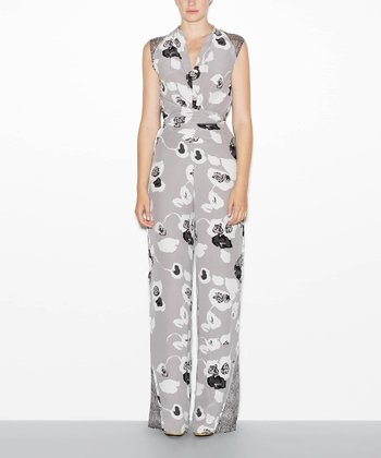 Ink Blot Spirit Silk Crepe Jumpsuit