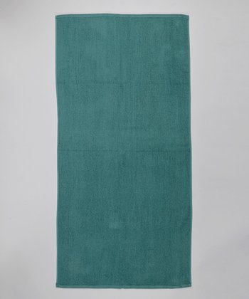 Hunter Green Terry Velour Beach Towel