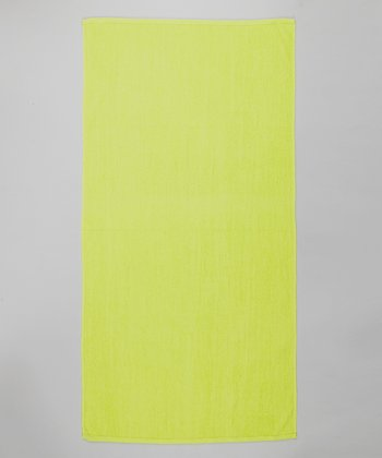 Neon Yellow Terry Velour Beach Towel