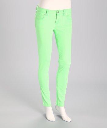 JALATE Fluorescent Green Skinny Jeans