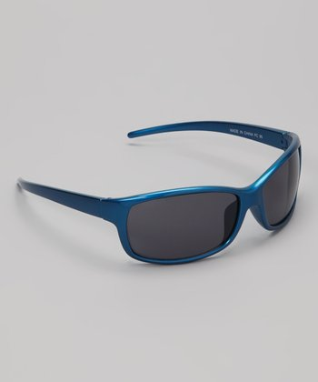 Blue Metallic Discovery Sunglasses
