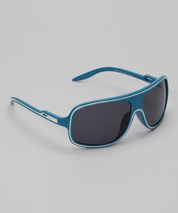 Blue & White Sunray Sunglasses