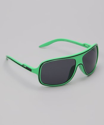 Neon Green & Black Sunray Sunglasses