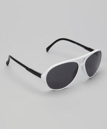 White Chill Pilot Sunglasses