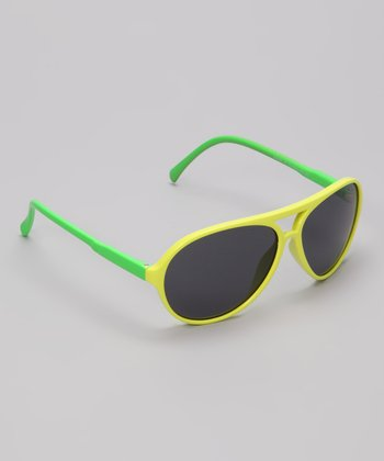 Yellow & Green Chill Pilot Sunglasses