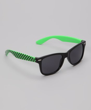 Black & Green Turbo Sunglasses