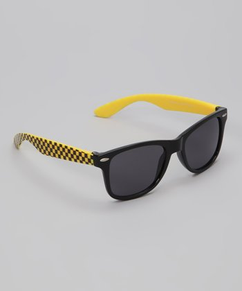 Black & Yellow Turbo Sunglasses