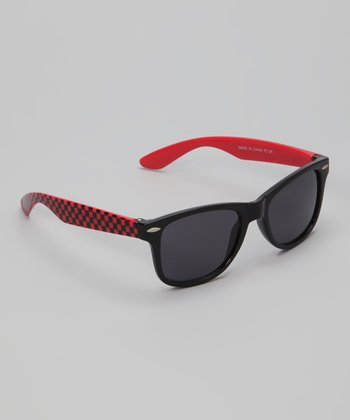 Black & Red Turbo Sunglasses
