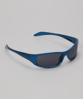 Blue Metallic Max Sunglasses